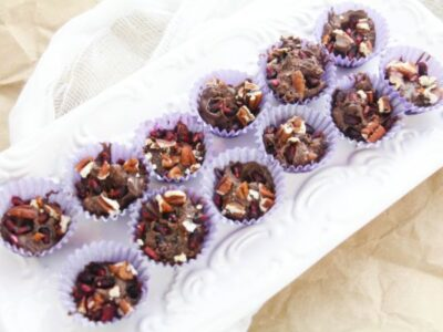 pomegranate chocolate candy cups