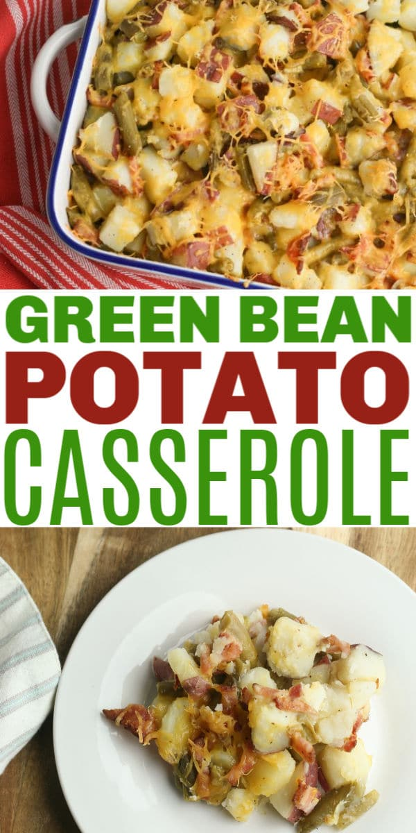 This green bean potato casserole can be a main dish or a side dish. Either way your family will love the flavors in this easy casserole recipe. #greenbeans #casseroles #greenbeancasserole via @wondermomwannab