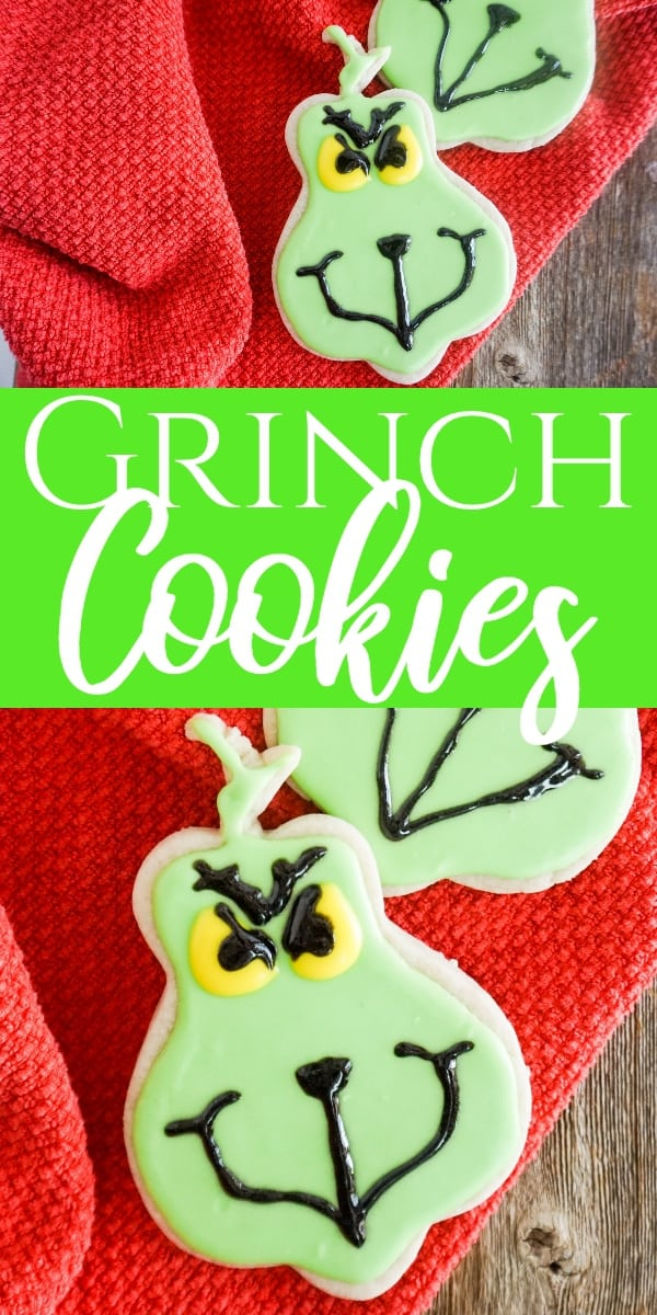 Do you love cookies, Christmas, and the Grinch? Come see how all three of these are brought together in this easy Grinch Cookies recipe. #grinch #christmas #cookierecipe via @wondermomwannab