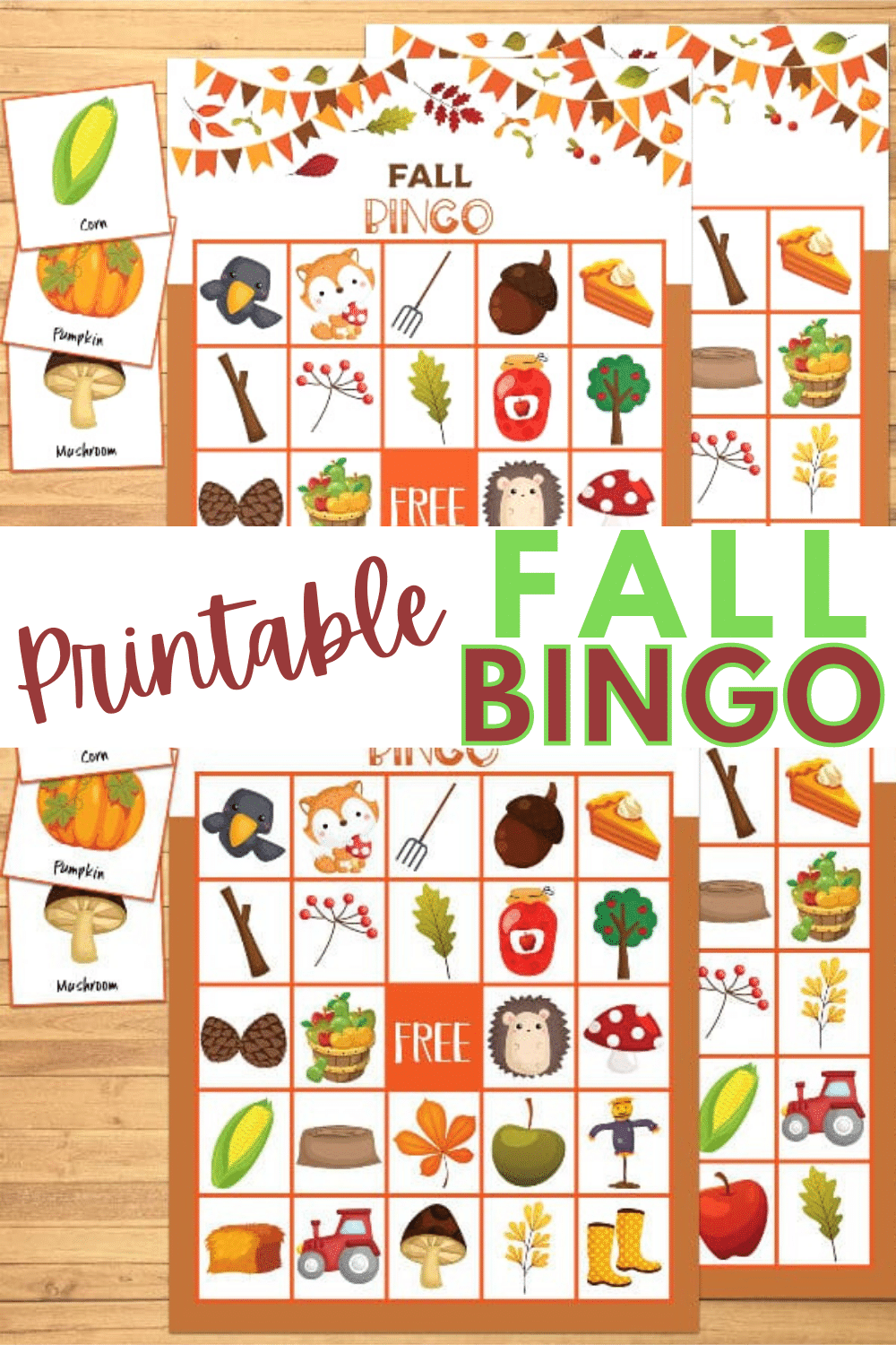 Printable Fall Bingo is a great activity for kids during the autumn months. This game is perfect for fall birthday parties or school parties. #printables #fall #bingo via @wondermomwannab