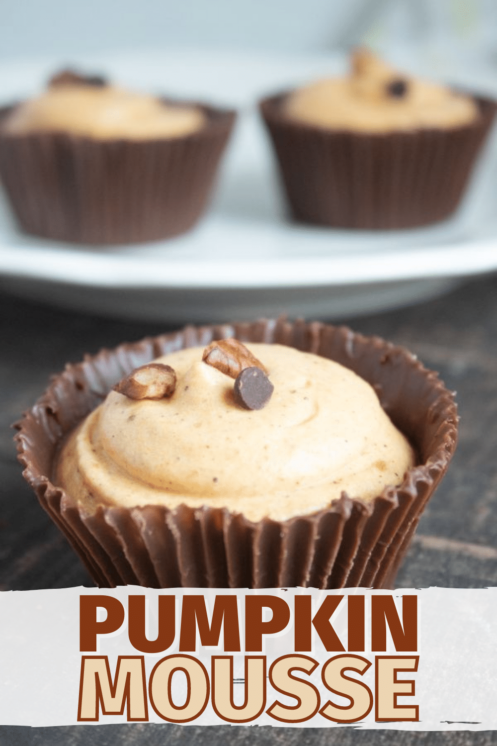 Easy pumpkin mousse is an elegant dessert recipe that is actually very simple to make. This is a great Thanksgiving dessert recipe for a crowd. #mousse #pumpkin #dessert via @wondermomwannab