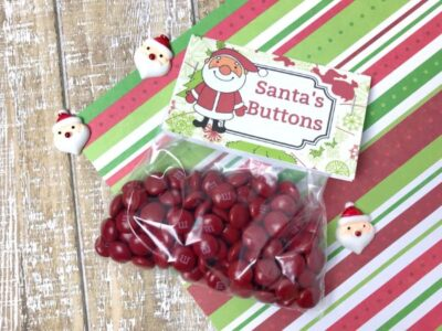 printable Santa's Buttons Treat Bags