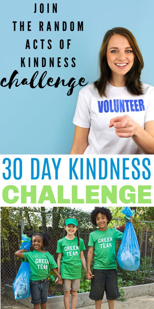 This easy 30 Day Kindness Challenge comes with a free printable to help make it simple to remember to do your random act of kindness every day. #kindness #30daychallenge #printables via @wondermomwannab