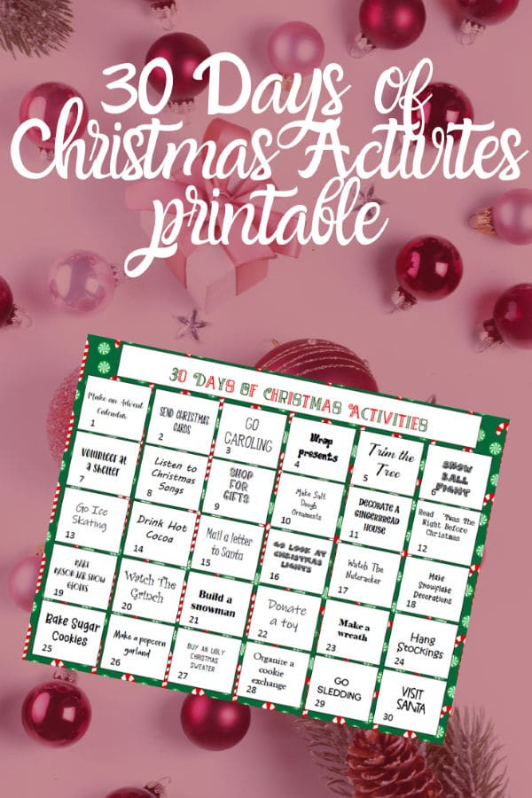 This 30 Days of Family Christmas Activities printable will help keep you on track to have the best holiday season making memories with your family. #printables #christmas #familyactivities via @wondermomwannab