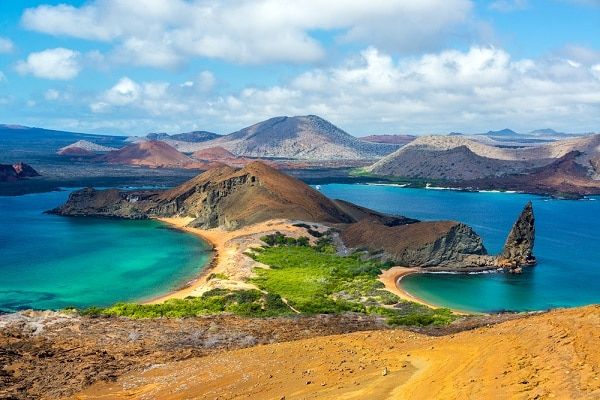 galapagos islands surrounded by blue water