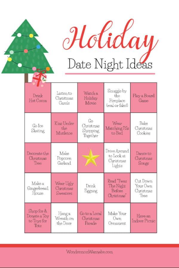 Christmas date ideas printable