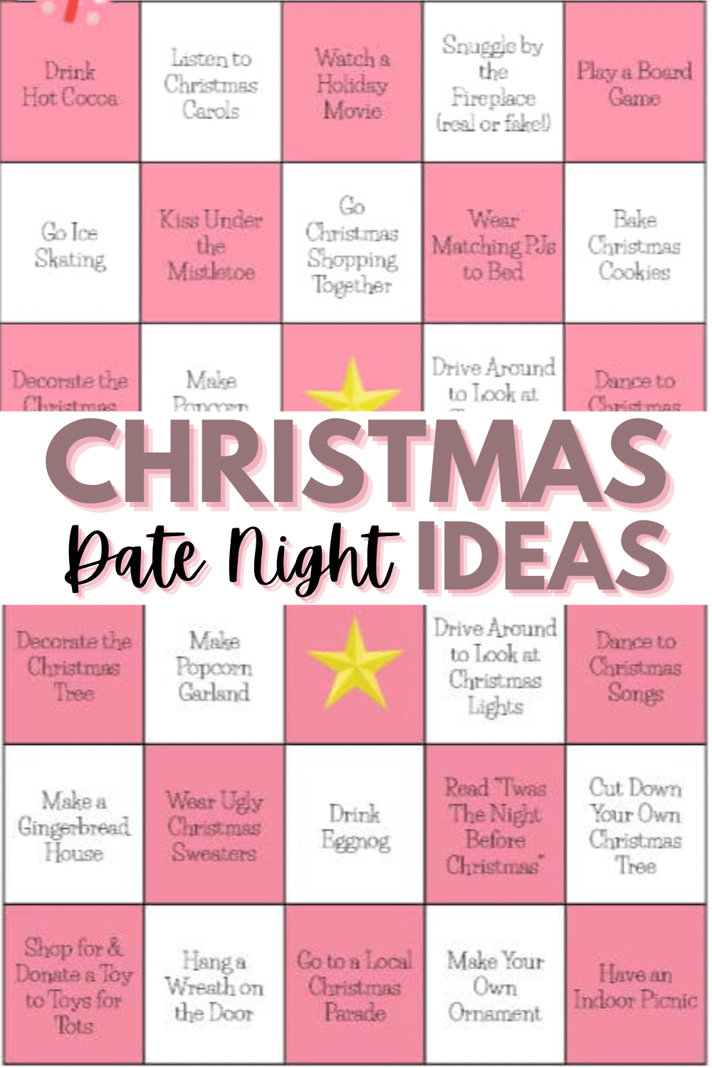 Finding unique Christmas Date Ideas is easy with this fun bingo-style printable. It is worth it to make time for your relationship during the holidays. #christmasdates #printables #christmasprintables via @wondermomwannab