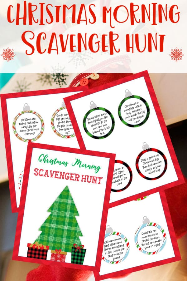 These free printable Christmas scavenger hunt riddles is a great way to make Christmas extra special. A fun way to stay entertained during the holidays. #Christmas #scavengerhunt #printables via @wondermomwannab