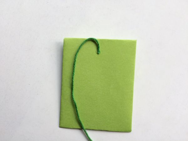 how to add string to a mini envelope on a white background