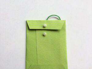green mini envelope unclasped