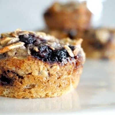 blueberry almond baked oatmeal cups
