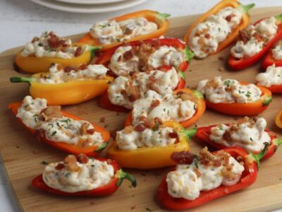 easy cream cheese stuffed mini peppers