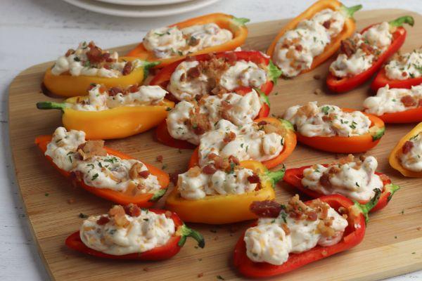easy cream cheese stuffed mini peppers
