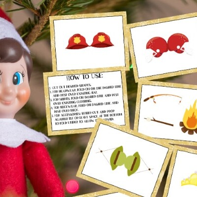 Elf on the Shelf printable props