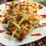 easy ham and cheese hash brown waffles