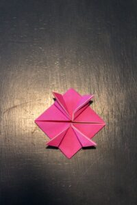 steps for making origami jumping frogs