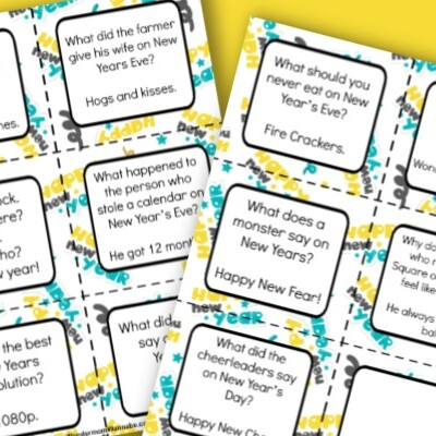 New Year Lunch Box Jokes for Kids