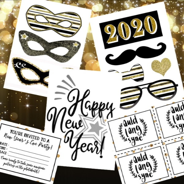 printables for a New Year's Eve Party Planning Kit