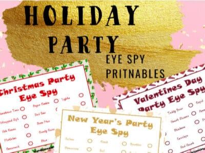 Printable I Spy Games for Winter Holidays