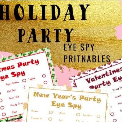 Printable I Spy Games for Winter Holidays