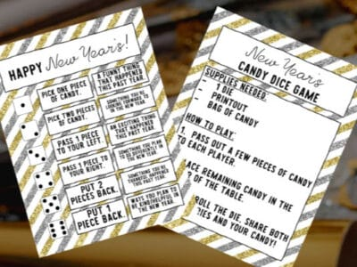 simple new year dice game for kids