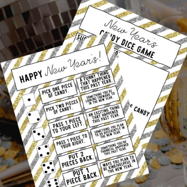 printable new year dice game for kids