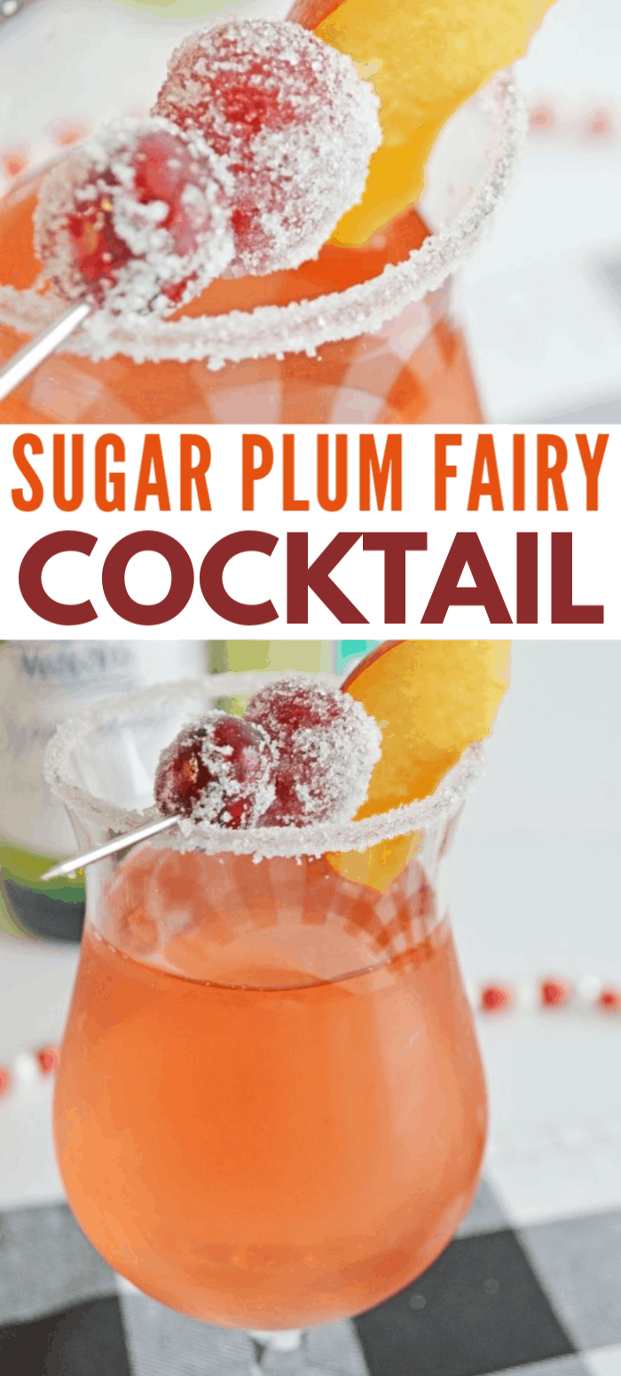 This sugar plum fairy cocktail is not only pretty to look at, it's super yummy! This is the perfect cocktail to serve at a holiday party and it's really easy to make. #nutcracker #cocktails #partydrinks via @wondermomwannab