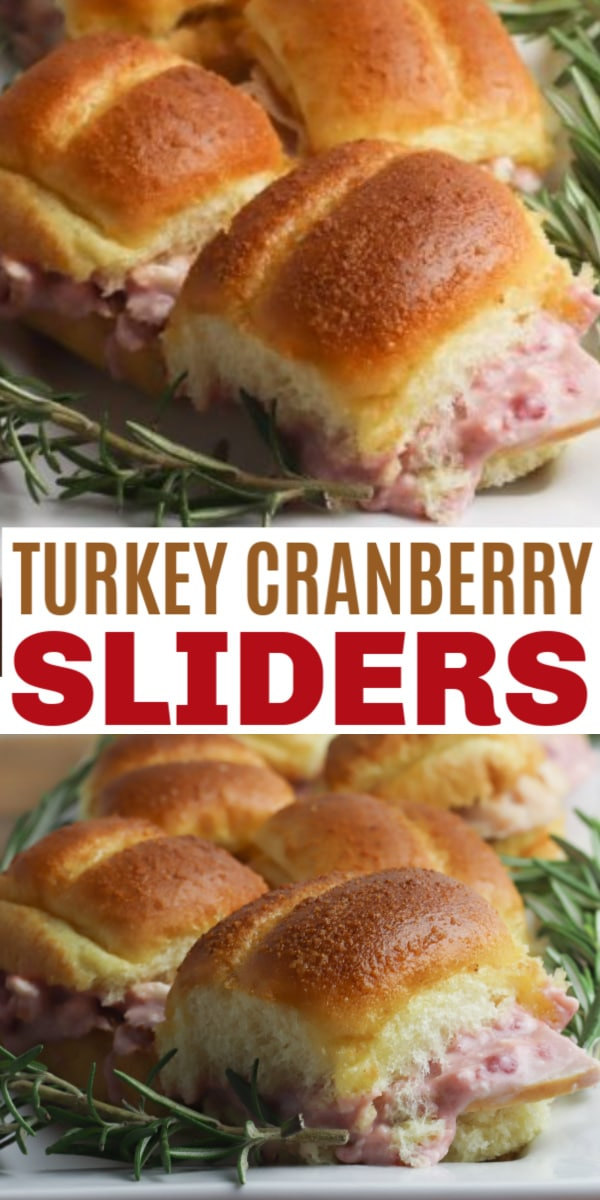 Turkey Cranberry Sliders are the perfect recipe for using up leftover turkey from Thanksgiving and Christmas dinner. This easy slider recipe is delicious! #leftoverturkey #sliders #cranberry via @wondermomwannab