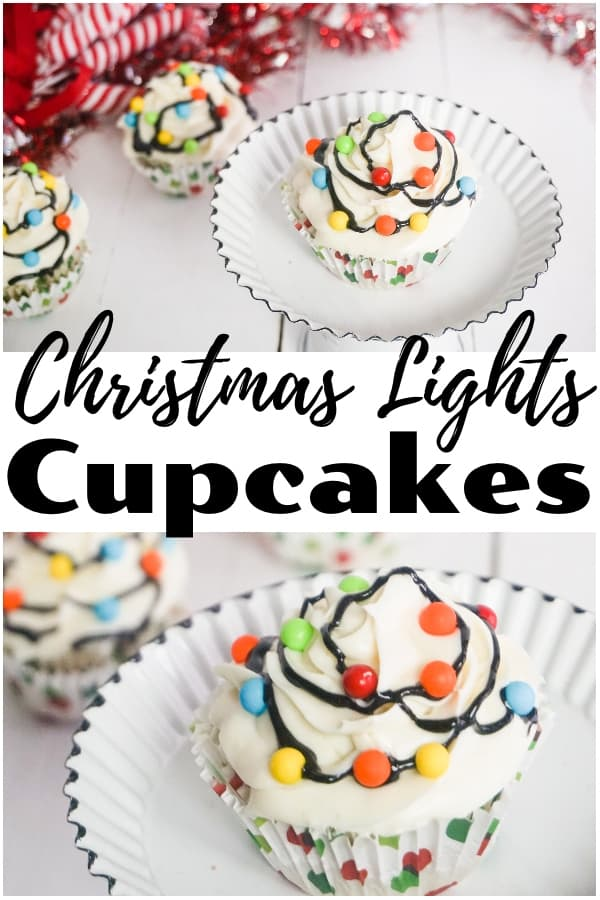 I love how quickly these easy Christmas Lights Cupcakes came together. They're literally about the easiest Christmas cupcakes you can make! #christmascupcakes #christmaslightscupcakes via @wondermomwannab