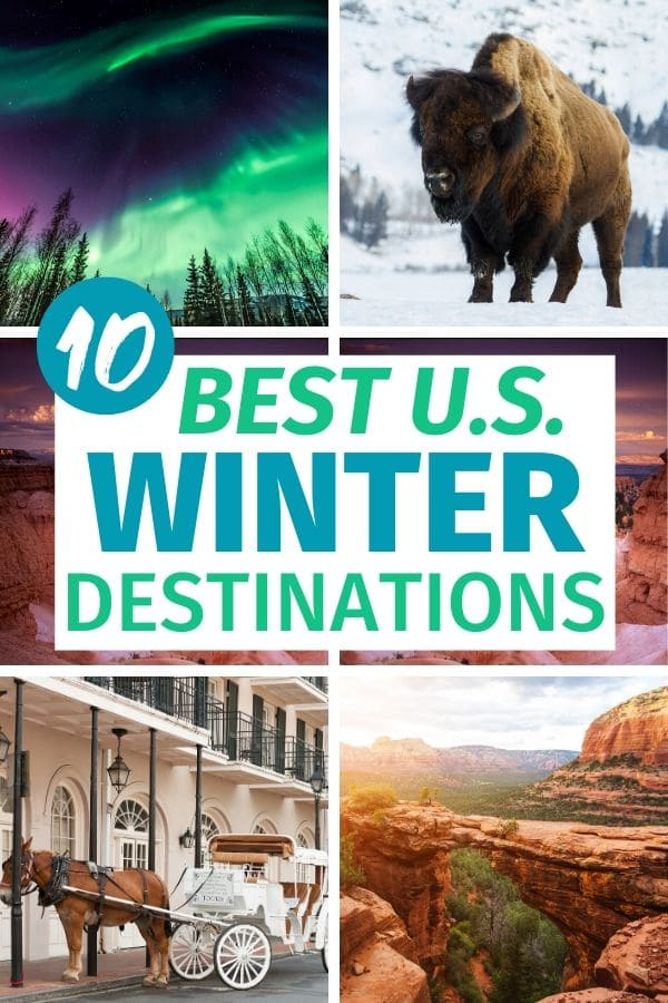 Need a winter getaway to recharge before Spring? Skip the expensive cruise or resort vacation and check out these top US winter destinations. #winter #vacation #usdestinations via @wondermomwannab