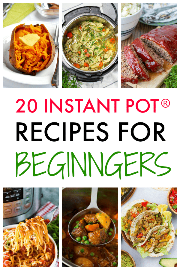 If you just got your first electric pressure cooker, you're going to love this collection of 20 Instant Pot recipes for beginners! #instantpot #pressurecooker #instantpotrecipes #beginners via @wondermomwannab