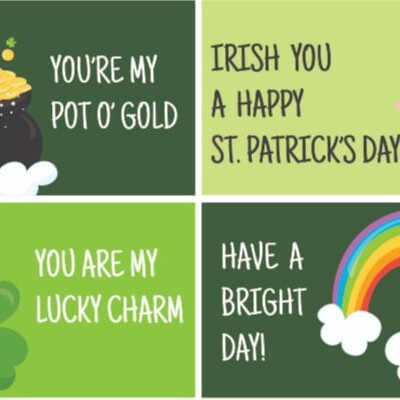 St. Patrick's Day Lunch Notes for Kids