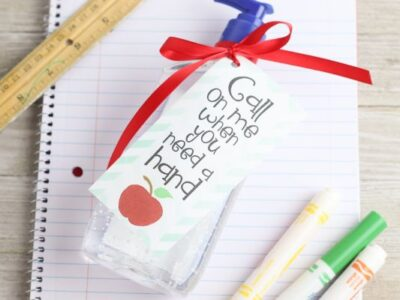 easy hand sanitizer teacher gift