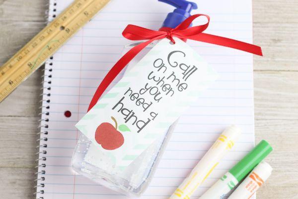 easy hand sanitizer teacher gift