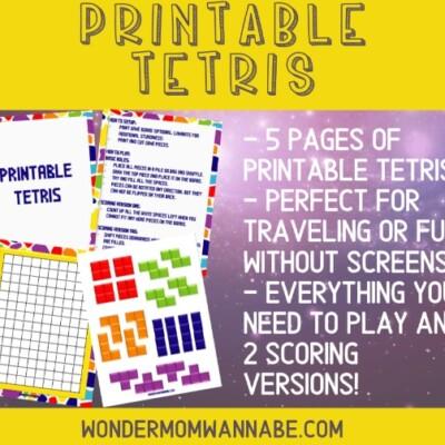 printable tetris board game