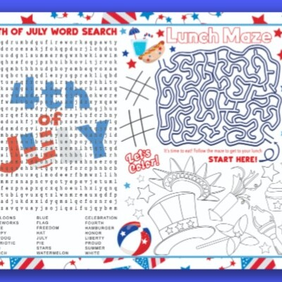4th of July Placemat for Kids