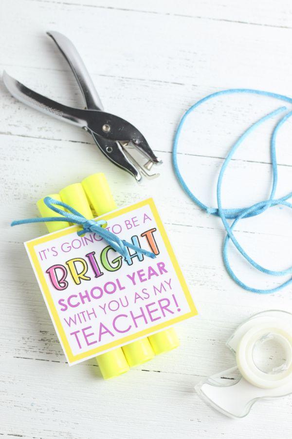 supplies needed to make a Highlighter Teacher Gift