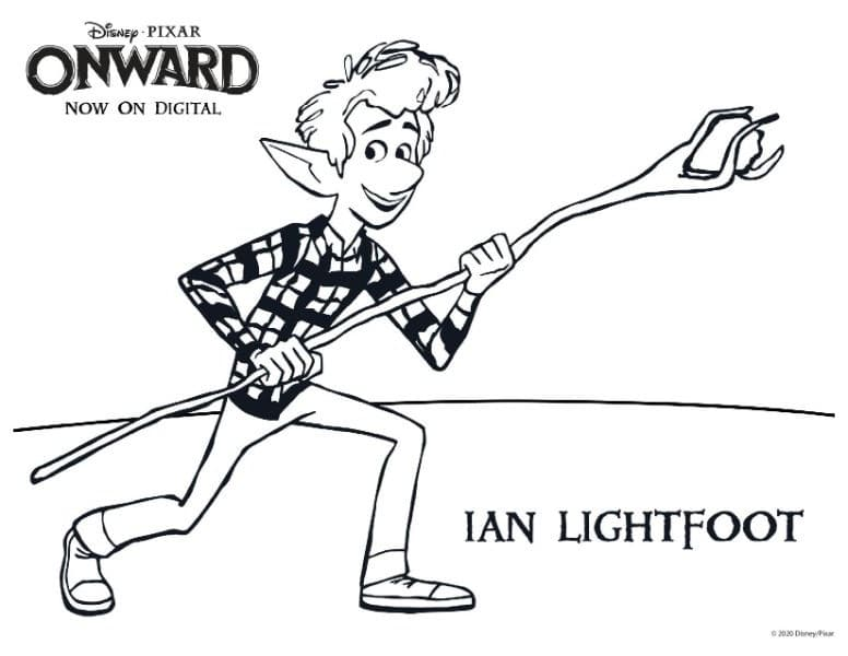 Ian Lightfoot coloring page from the movie Onward