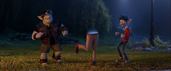 picture of a scene with two elf brothers from the movie Onward