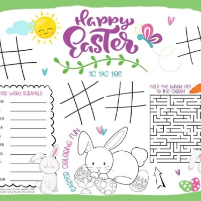 printable Easter placemat