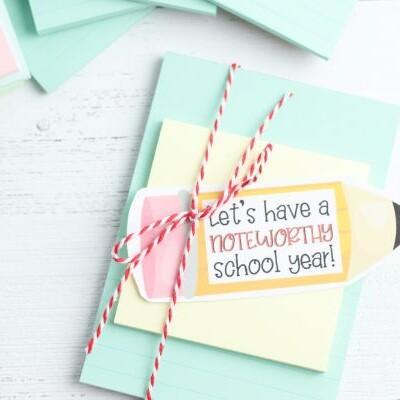 teacher notebook gift printable