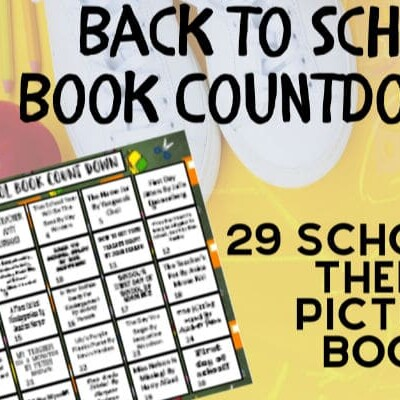 Back to school book countdown for children