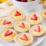 easy mini strawberry lemon tarts