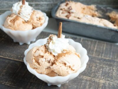 homemade pumpkin pecan ice cream