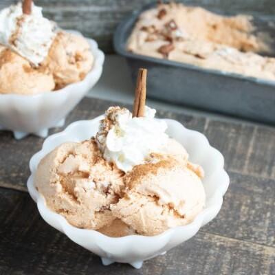 homemade pumpkin pecan ice cream
