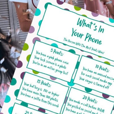 what's in your phone game printable