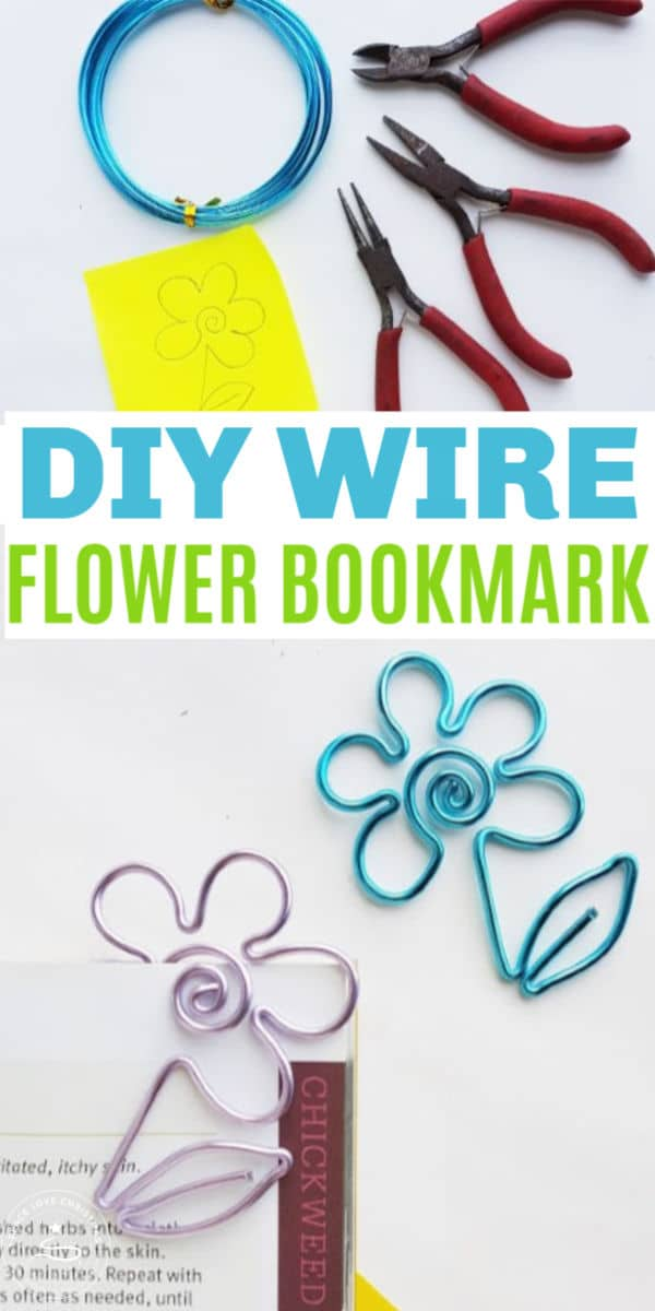 A DIY Wire Flower Bookmark is a quick craft project. These adorable wire flower bookmarks will hold your place when you read and make great gifts too! #bookmark #wirecrafts #bookaccessories via @wondermomwannab