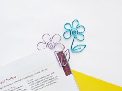 DIY Wire Flower Bookmark