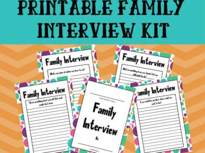 printable family interview pack