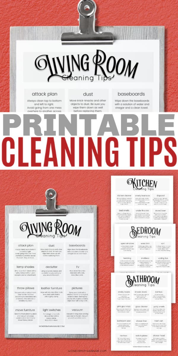 printable household cleaning tips